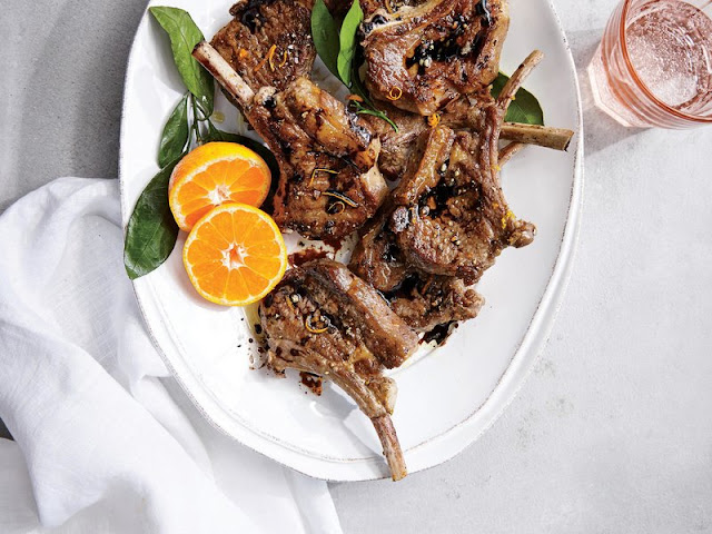 A simple citrus marinade plus a quick sear yields significantly more flavor than you migh Orange-Balsamic Lamb Chops Recipe