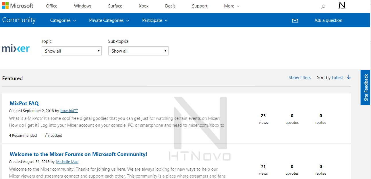 Mixer-Forum-Microsoft-Community