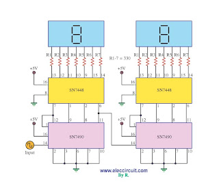 Swith For diagram: Digital Decade Counter Schematic