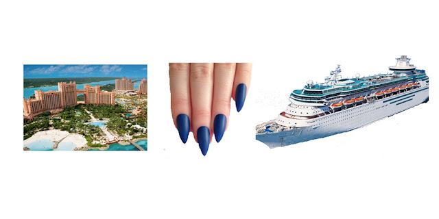 Atlantis Bahamas, Blue Dip Nails, Royal Carribean Cruise, Travel Blogger, Lifestyle Blogger, College Blogger