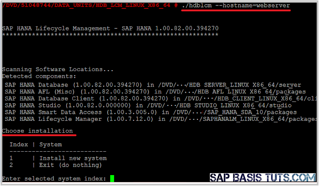 HANA Tutorials: Executing SAP HANA installation using hdblcm