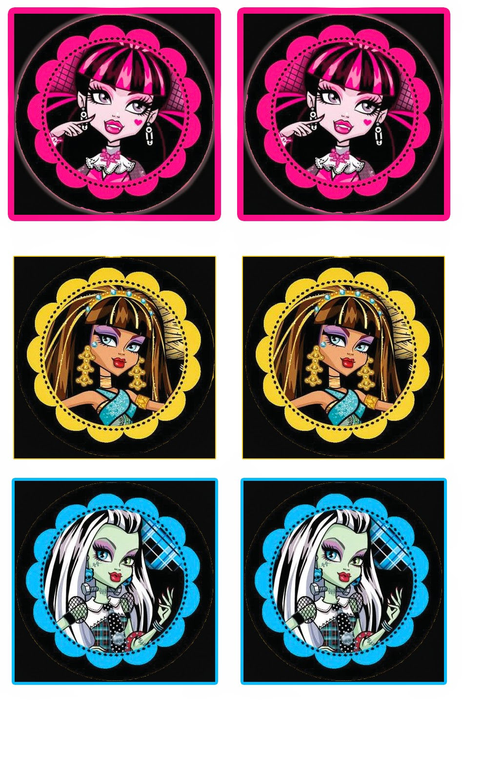 Monster High Free Printable Cupcake Toppers And Wrappers