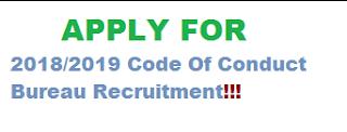 2018/2019 Code Of Conduct Bureau Recruitment