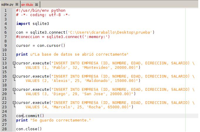 Python y SqLite3 como base de datos - Mi diario Python