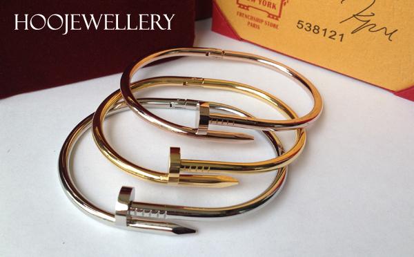 White Gold Bracelets: Cartier Nail Bracelet Replica