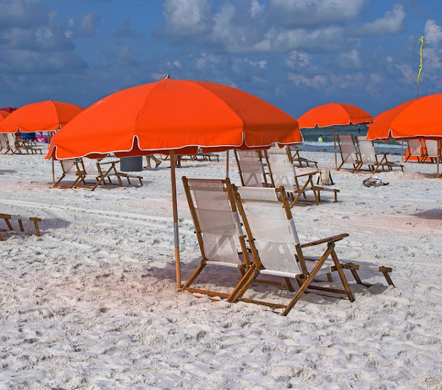 Beach and Umbrella at Clearwater