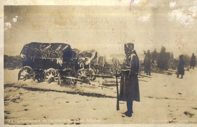 Serbian artillery in Albania during the First Balkan War
