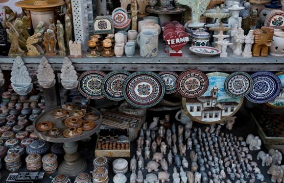 Feira de artesanato de pedra sabão