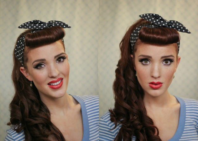 Pleasant The Freckled Fox Modern Pin Up Week 1 Cascading Pony With Bangs Short Hairstyles For Black Women Fulllsitofus