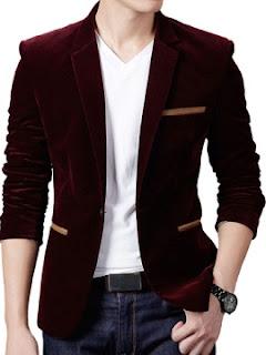 Ericdress Plain Corduroy Loose Men's Coat