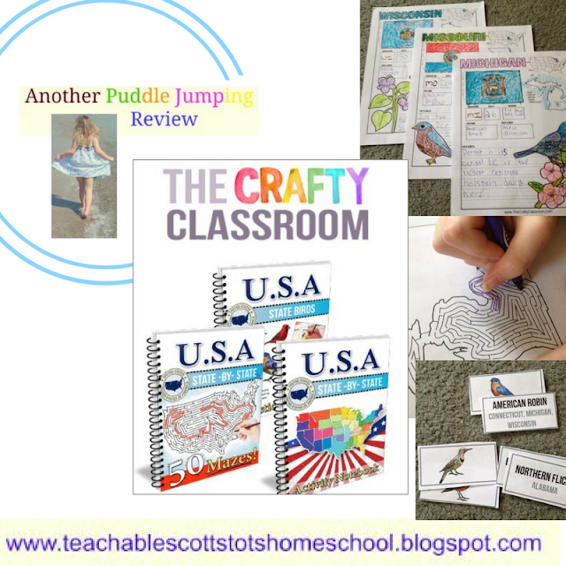 Review, #hsreviews, #CraftyClassroom, #HomeschoolCurriculum, geography, USA, USA Activity Kit, USA Unit Study, 50 State Unit Study, USA Notebooking Pages, Homeschool Geography Curriculum, Travel With Kids