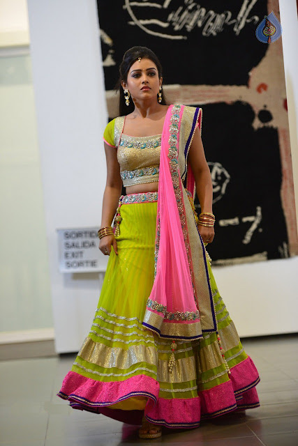 Mishti Chakraborty Pretty in Neon Green Designer Lehenga