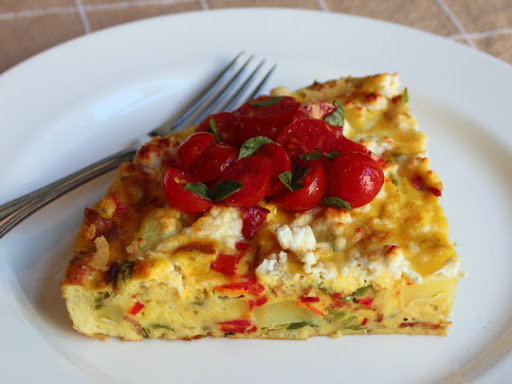 Potato & Italian Frying Pepper Frittata and How I Learned to Swear in Italian