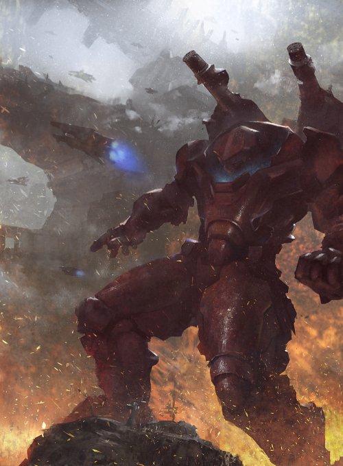 Grosnez deviantart ilustrações fantasia ficção científica games sombrio
