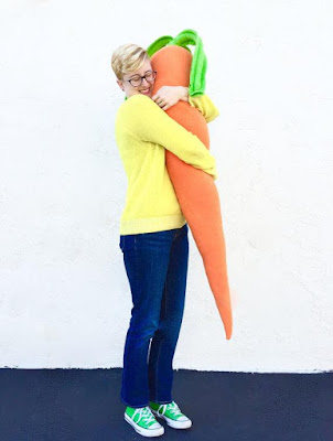 Oversized Carrot Body Pillow