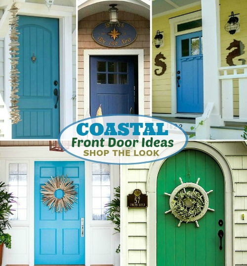 Coastal Nautical Front Door Ideas