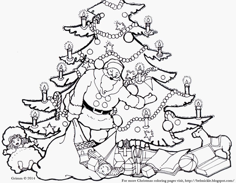 Belznickle Blogspot Tree With Candles Coloring Page