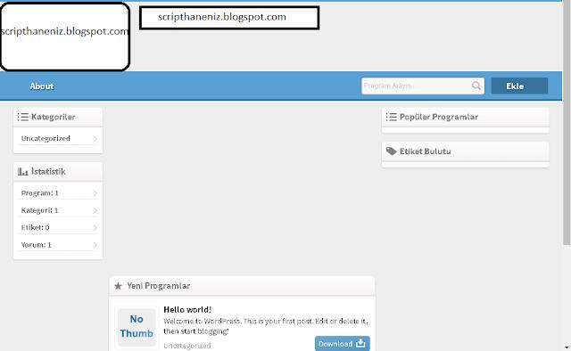 WordPress Program Paylaşım Teması İndir 2017