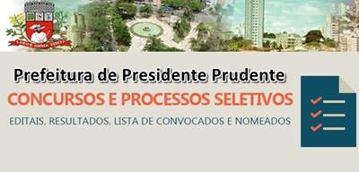 Concurso Prefeitura de Presidente Prudente 2017