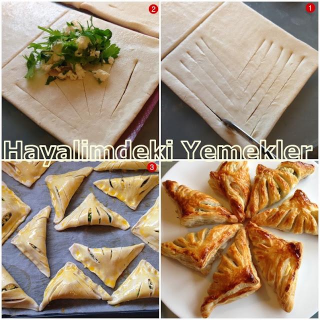 resimli Şekilli Peynirli Milföy nasıl yapılır