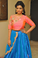 Nithya Shetty in Orange Choli at Kalamandir Foundation 7th anniversary Celebrations ~  Actress Galleries 087.JPG