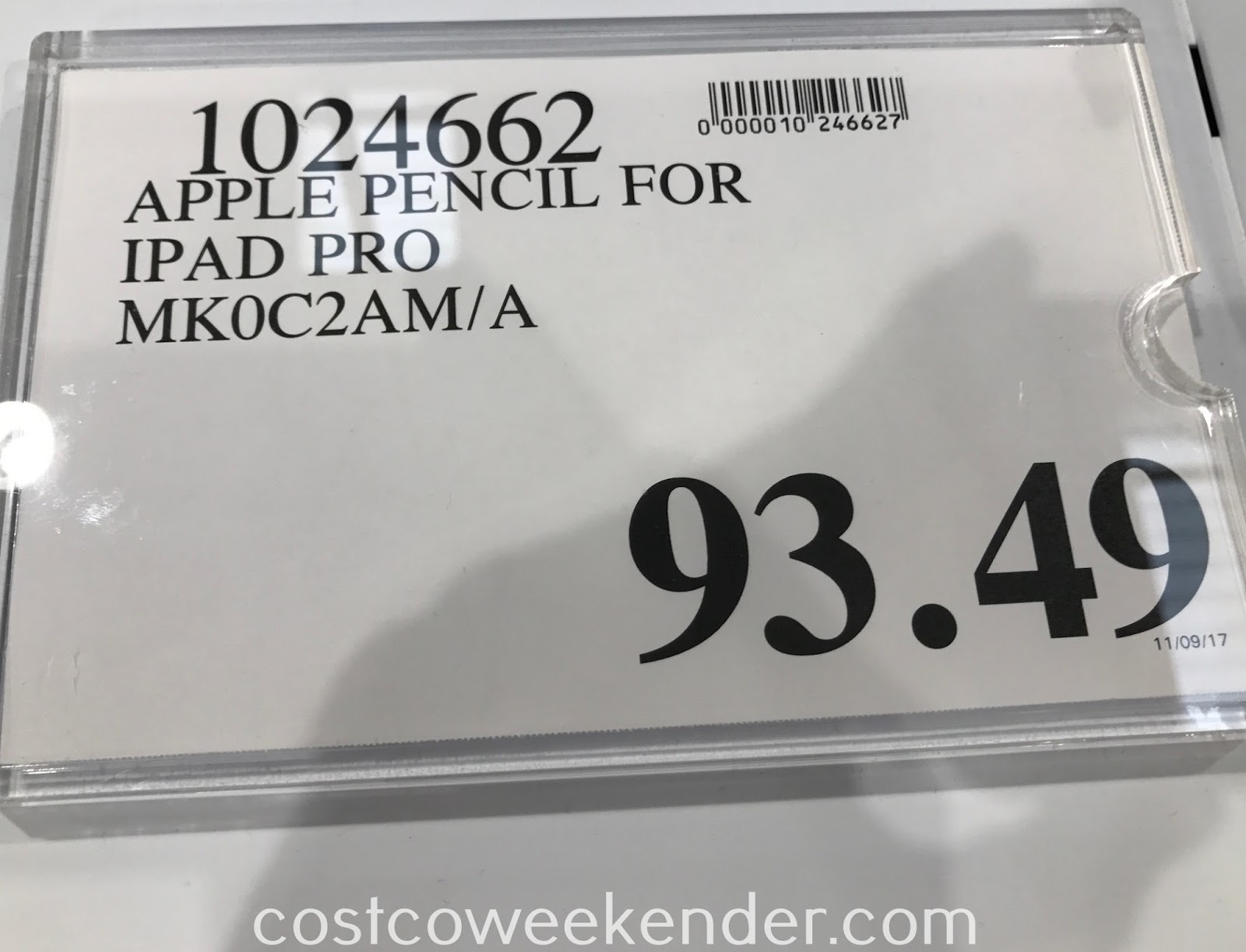 Deal for the Apple Pencil for iPad Pro (MK0C2AM/A) at Costco