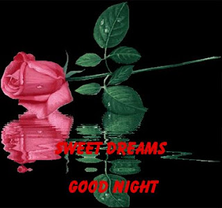 Good Night Gif Images | sweet Dream Wishes picture And Photos with rose