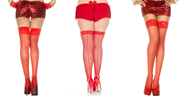Red Thigh Highs by Music Legs at The Spot Dallas