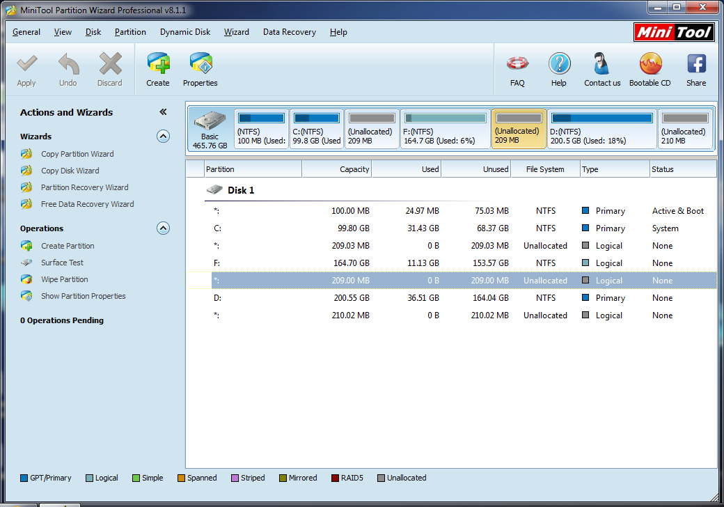 Minitool Partition Wizard Professional Edition v8 1 1: Hands