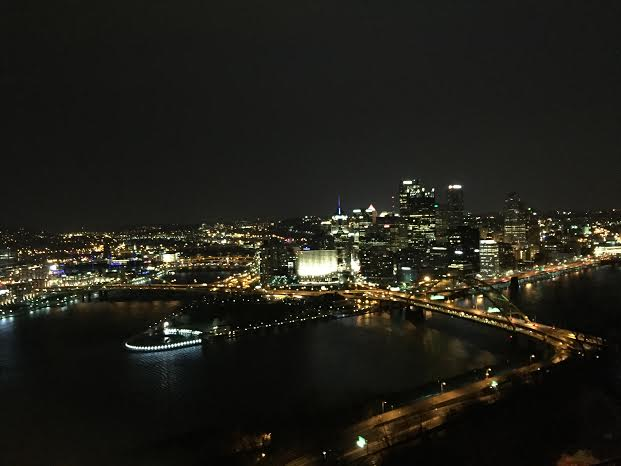 Night skyline of Pittsburgh from Mt. Washington