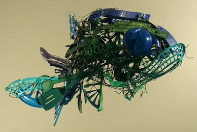 Esculturas de pez  Sayaka Ganz