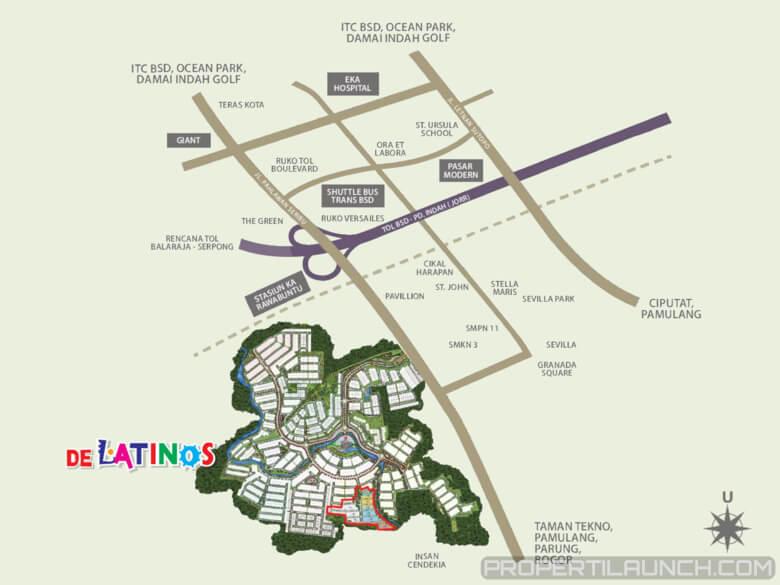 Peta Lokasi De Latinos BSD