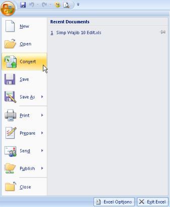 Cara Upgrade Microsoft Office 2007 Ke 2010 Gratis : upgrade, microsoft, office, gratis, Amka:, Mengubah, Excel, Versi