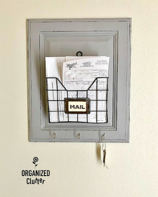 Cabinet Door Mail Organizer/Key Hooks