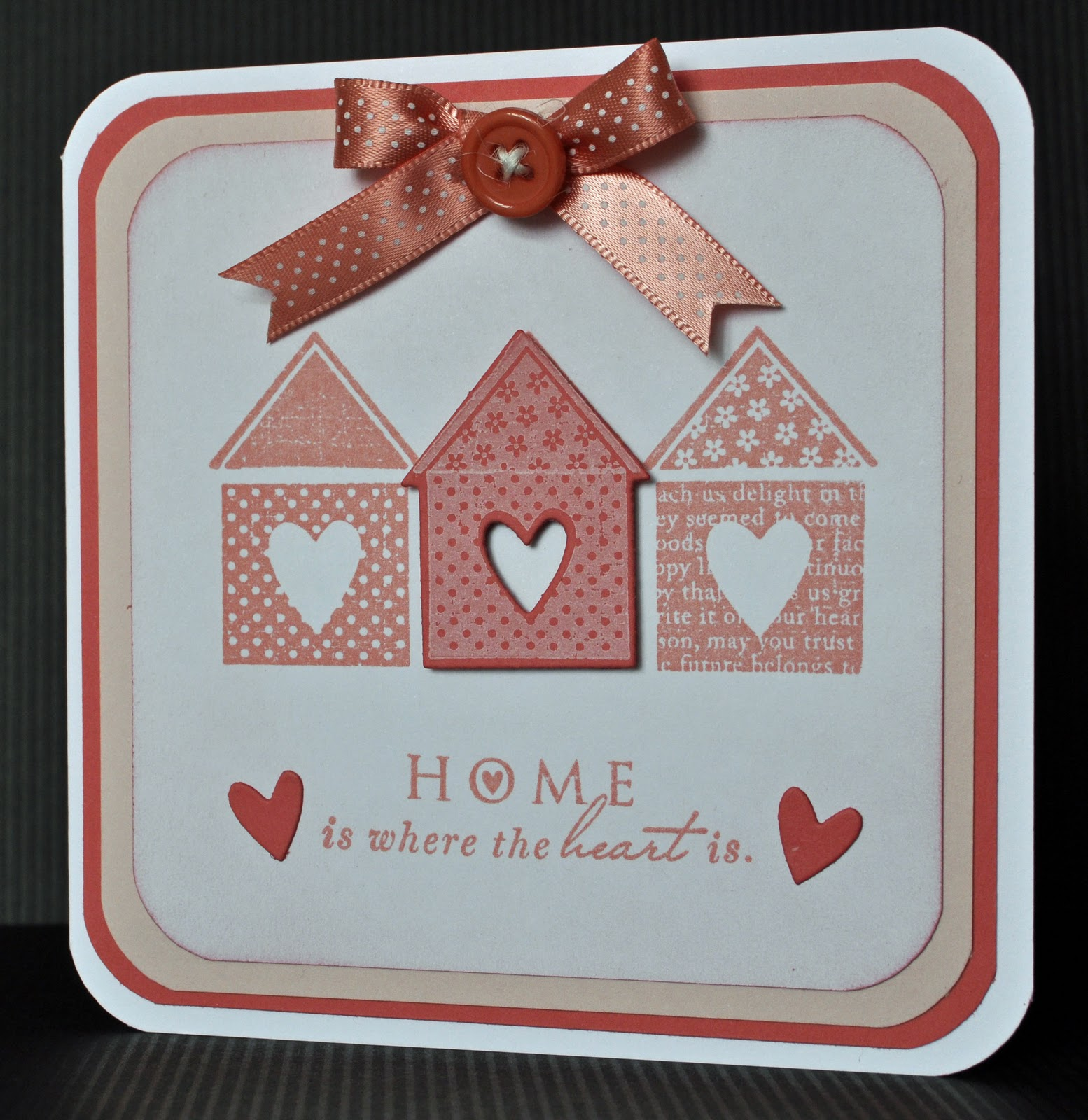 inky fingers cricut new home canvas and papertrey ink card
