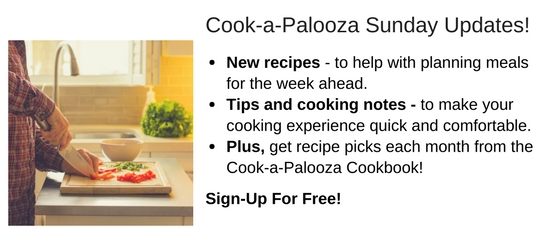 Join Cookapalooza Sunday Updates. It's free,