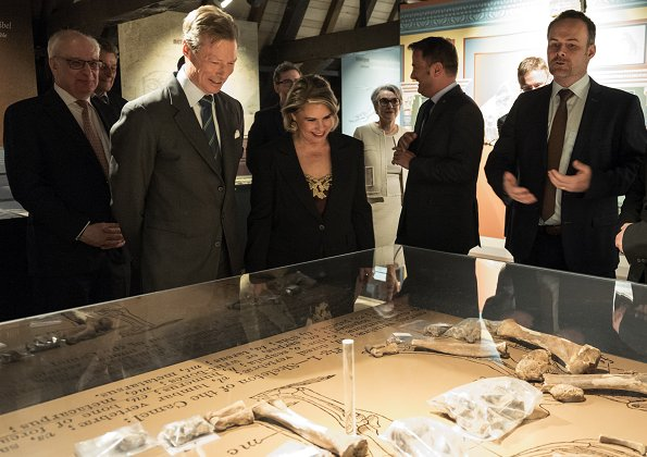 "Grand Duke Henri and Grand Duchess Maria Teresa of Luxembourg attended opening of ""UNexpected Treasures"" exhibition exhibited at National Museum"