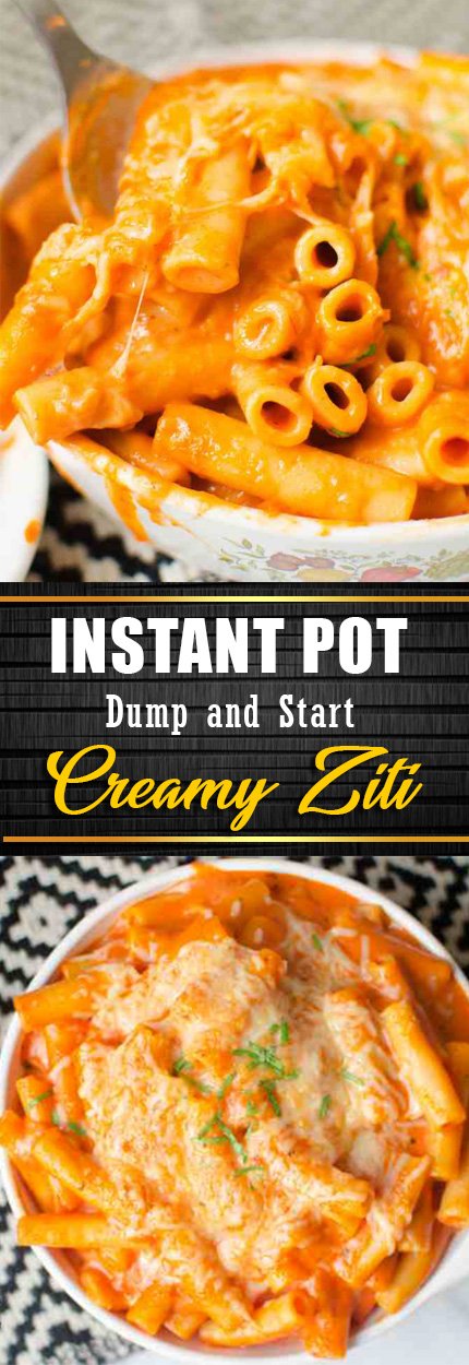 Dump and Start Instant Pot Creamy Ziti