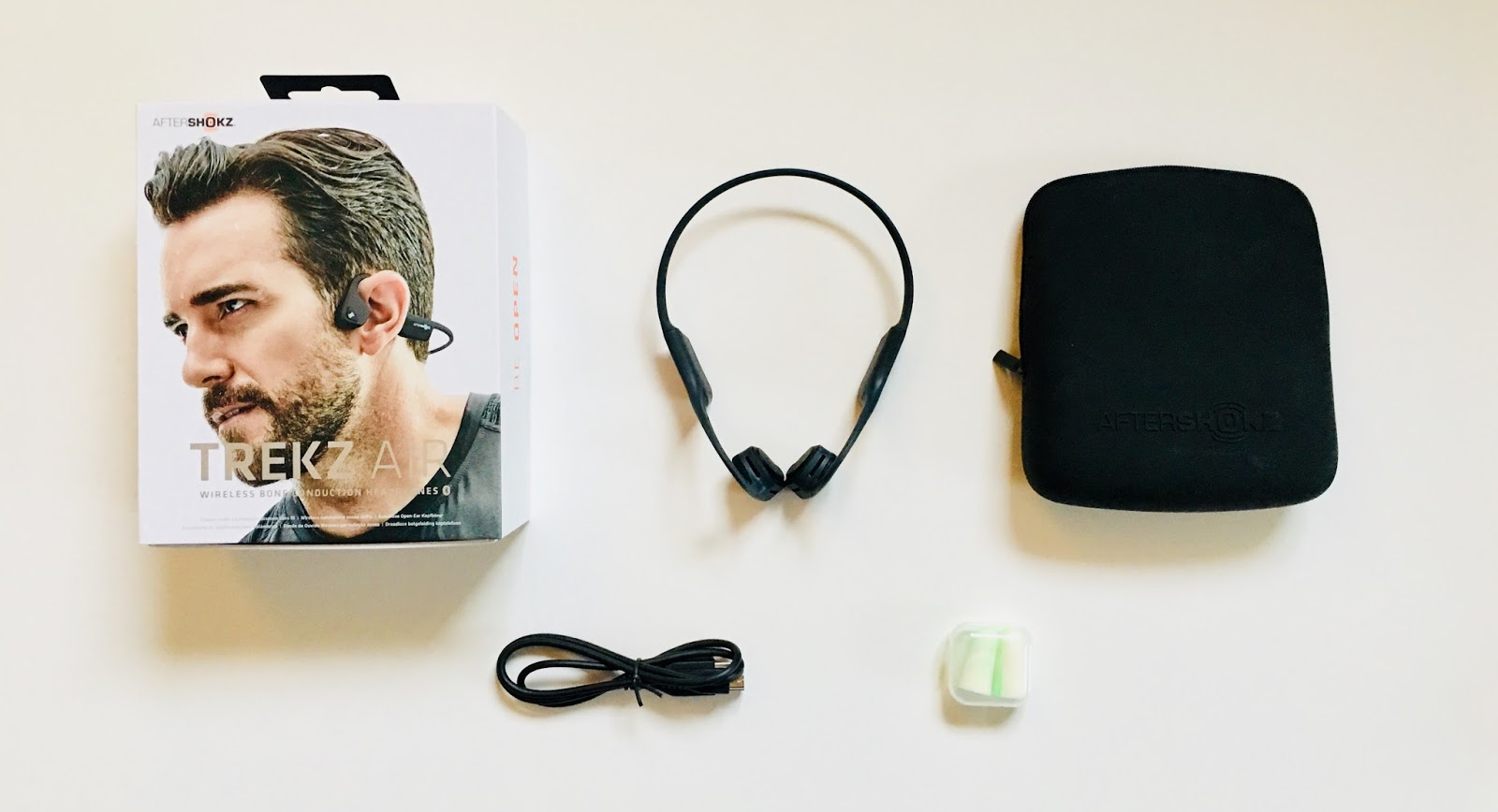 Trekz Air AfterShokz Packung Inhalt Review Test