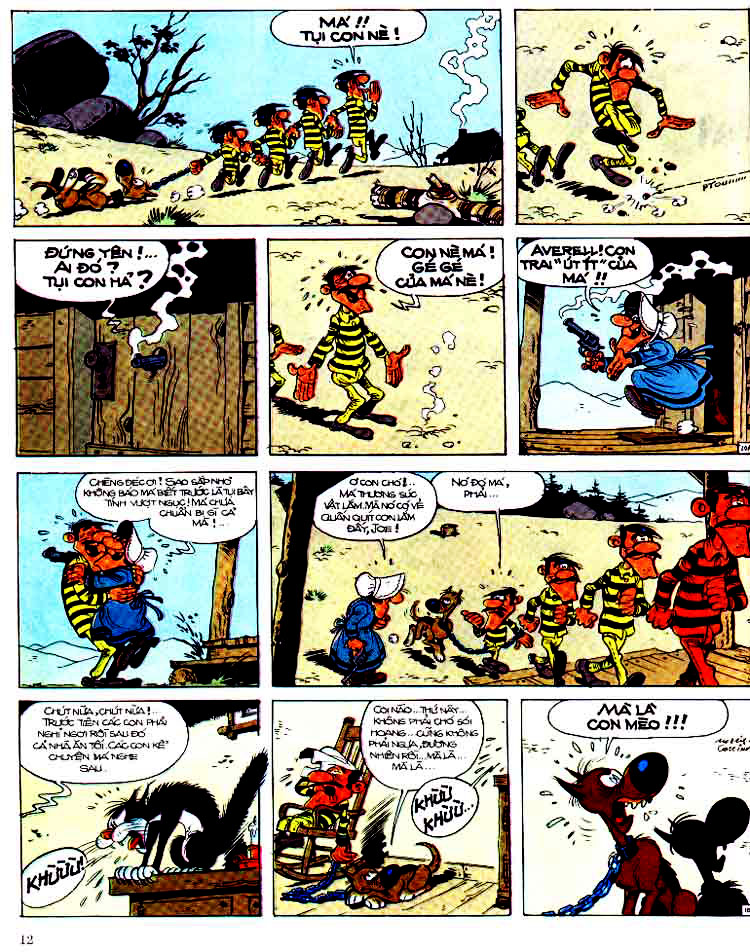 Lucky Luke tap 15 - ma dalton trang 13