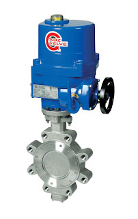high performance butterfly valve double offset with actuator