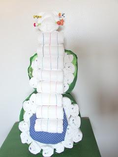 DIY guitarra con pañales y mantita de bebe para babyshower