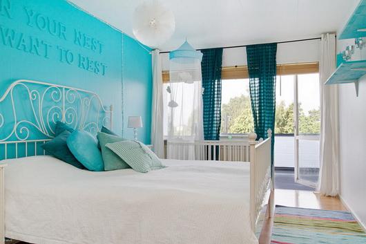 dormitorios en color turquesa y blanco dormitorios con