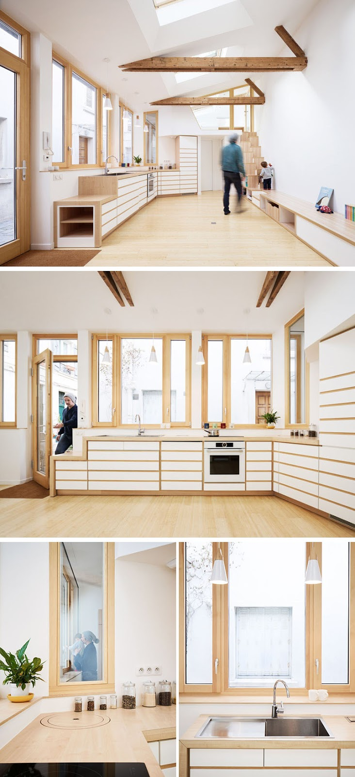 modern-kitchen-design-white-wood-120318-1251-06 This 1970s Studio Was Transformed Into A Bright And Open Small Home (Before & After) Interior