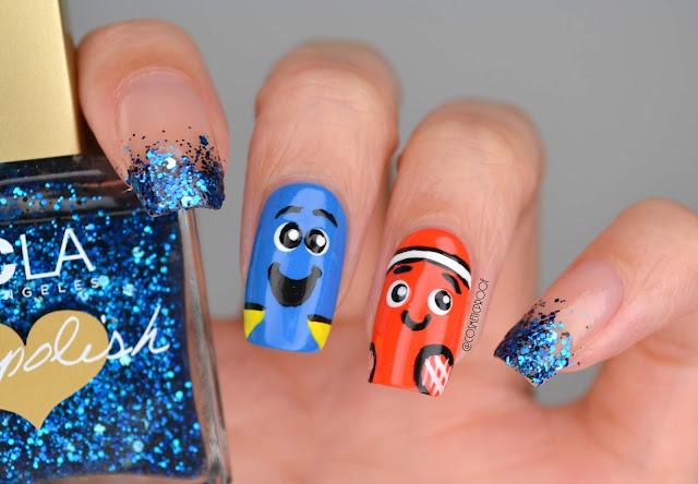 Finding Nemo Nail Art