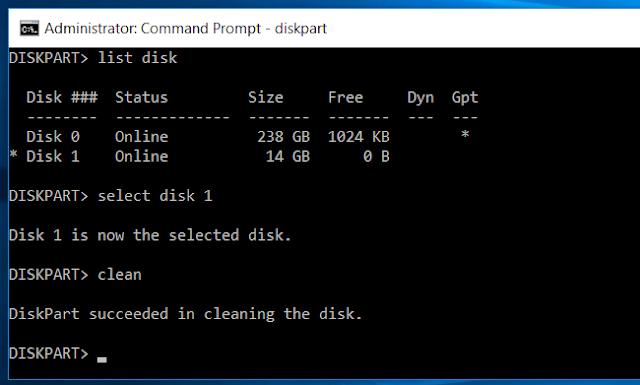 Diskpart Clean Command