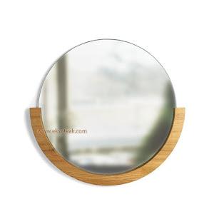 Cermin Hias Jati Minimalis Modern Seri Bulan