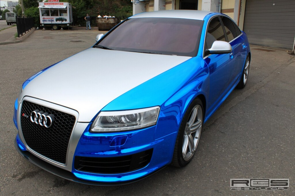 audi newz tuning audi rs6 blue vein by re styling ru. Black Bedroom Furniture Sets. Home Design Ideas