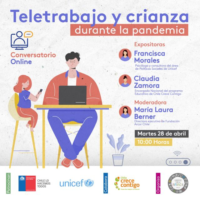 "Invitan a conversatorio ""Teletrabajo, crianza durante la pandemia"""