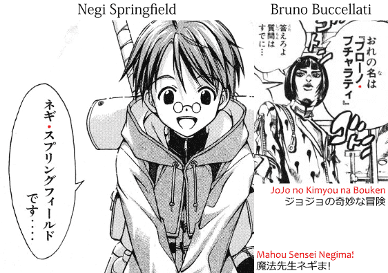 Middle Dots Used In Non Japanese Names Manga Negi Springfield From Mahou Sensei